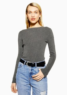 Topshop Knitted Button Sleeve Top