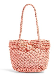 Topshop Fizzle Straw Tote