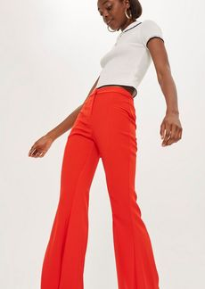 Topshop Flared Split Front Trousers