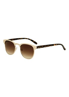 Flat Metal Club Master Sunglasses