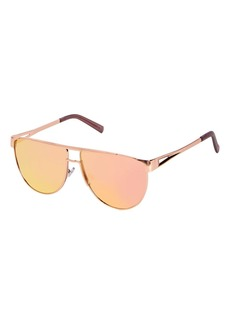 Topshop Flat Top Metal Aviator Sunglasses