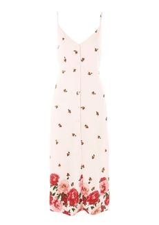 Topshop Floral Border Slip Dress