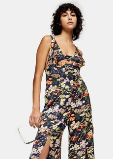 Topshop Idol Floral Print Jumpsuit