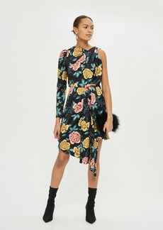 Topshop Floral One Sleeve Dress