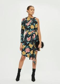 Topshop Floral One Sleeve Dress
