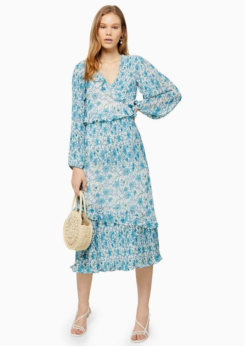 Topshop Floral Pleated Maxi Dress