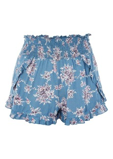 Topshop Floral Ruffle Shorts