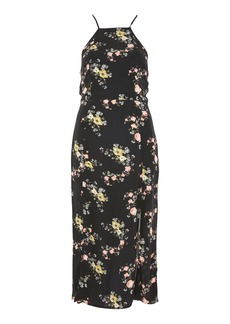 Topshop Floral Square Neck Midi Dress