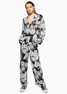 Topshop Floral Wide Leg Trousers By Boutique
