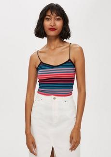 Topshop Fluro Stripe Camisole Top