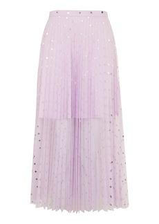 Foil Spot Pleat Tulle Skirt