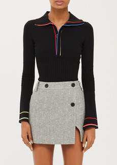 Fontana Tailored Wrap Mini Skirt By Unique