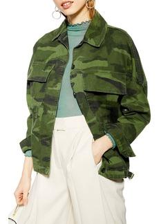 Topshop Frank Camouflage Jacket