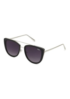 Topshop French Kiss Black Sunglasses By Quay Australia