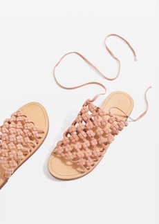 Topshop Friday Woven Lace Up Sandals