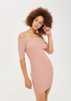 Frill Bardot Short Sleeve Dress