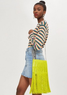 Topshop Frill Fringe Cross Body Bag
