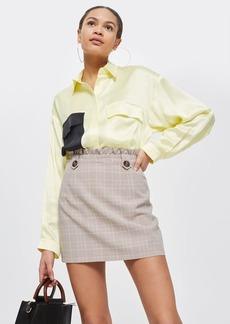 Frill Waist Checked Mini Skirt