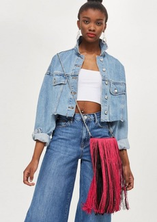 Topshop Frilla Fringe Cross Body Bag