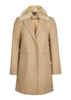 Fur Collar Boyfriend Coat