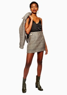 Topshop Gem Boucle Skirt