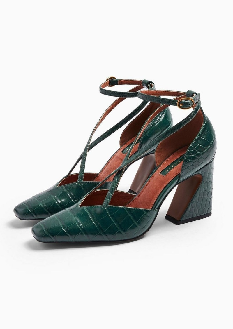 Topshop Ghost Green Cross Front Court Shoes