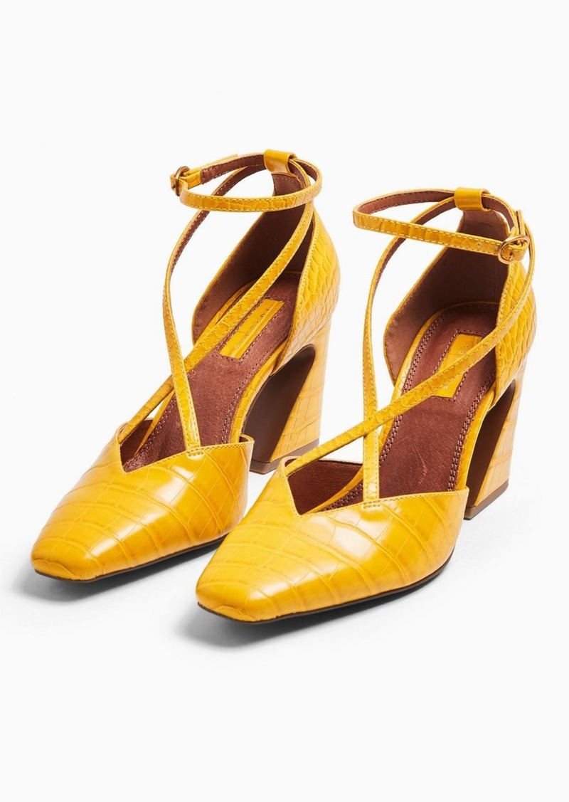 Topshop Ghost Ochre Cross Front Court Shoes