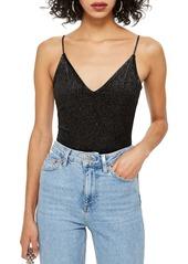 Topshop Glitter Stripe Bodysuit