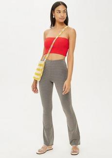 Topshop Glitter Stripe Flare Trousers