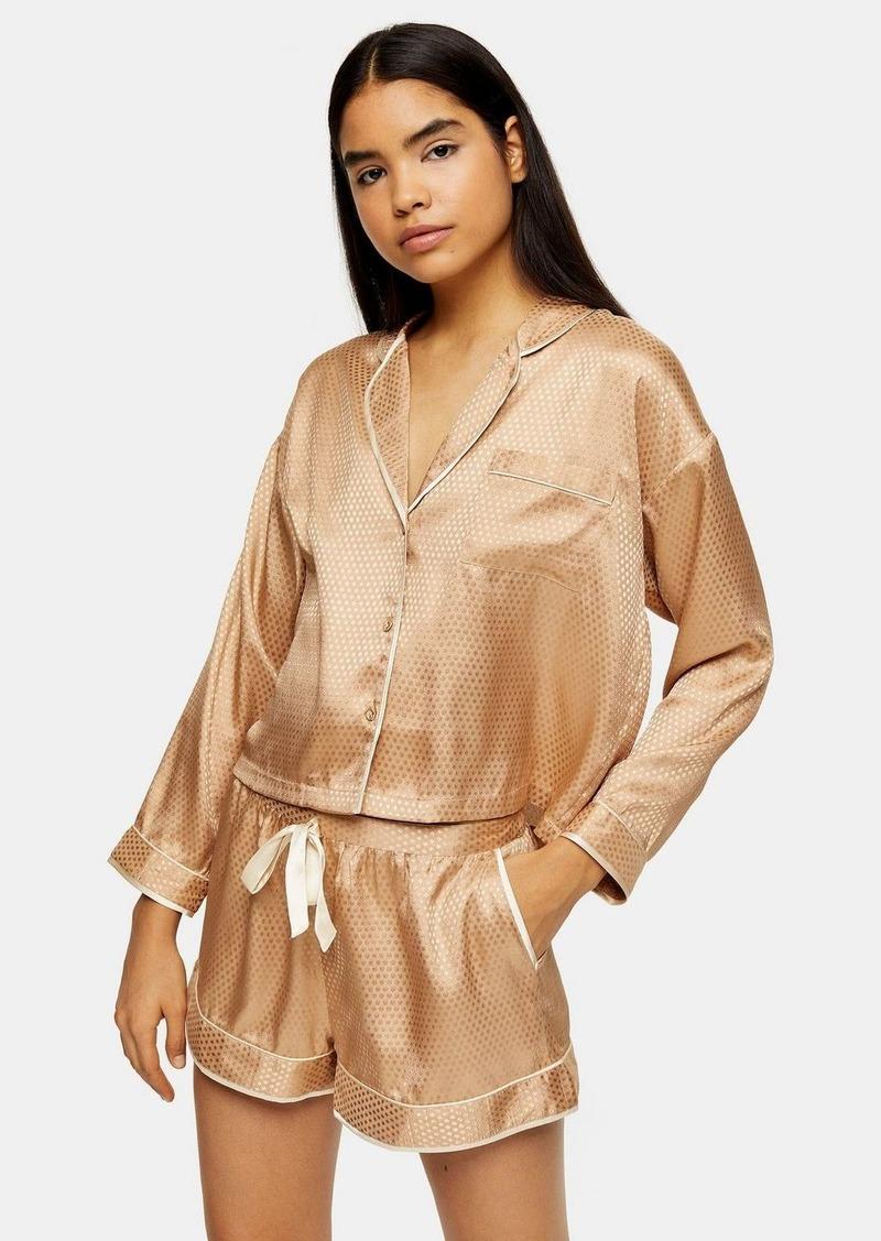 Topshop Gold Spot Jacquard Pyjama Shirt