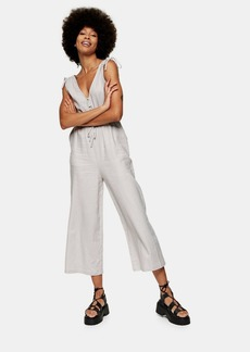 Topshop Clothing /Rompers Jumpsuits /Gray Jumpsuit With Linen