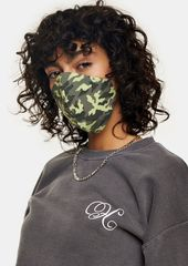 Topshop Gifts /Stocking Stuffers Under  /Green Camouflage Print Fashion Face Mask