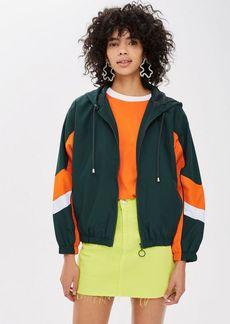Topshop Green Windbreaker Jacket