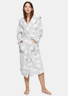 Topshop Grey Carved Cloud Dressing Gown