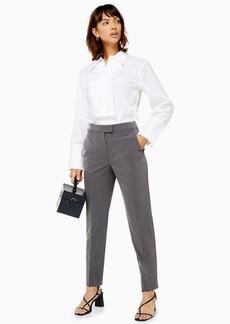 Topshop Grey Cigarette Trousers
