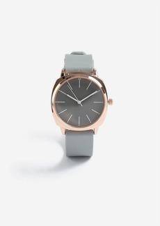 Topshop Grey Silicone Watch