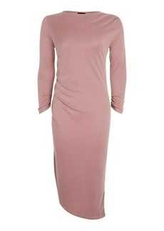 Topshop Half Sleeve Drape Midi Dress