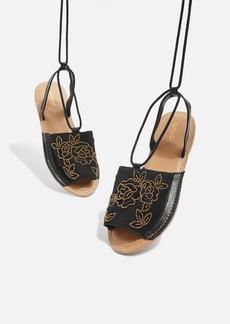 Topshop Halle Wrap Around Sandals
