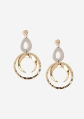 Topshop Hammered Ring Drop Earrings