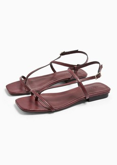 Topshop Haven Burgundy Flat Sandals