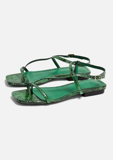 Topshop Haven Green Flat Sandals