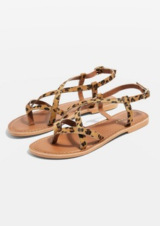 Topshop Hazy Leather Flat Sandals