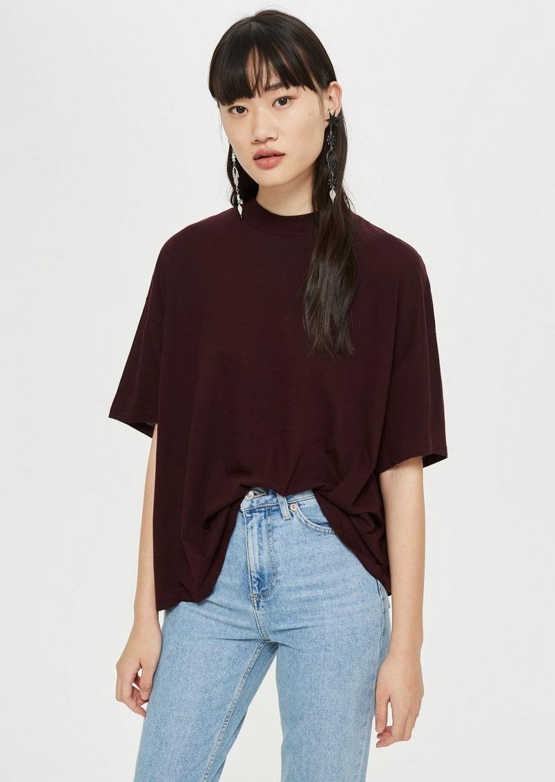 Topshop High Neck T Shirt