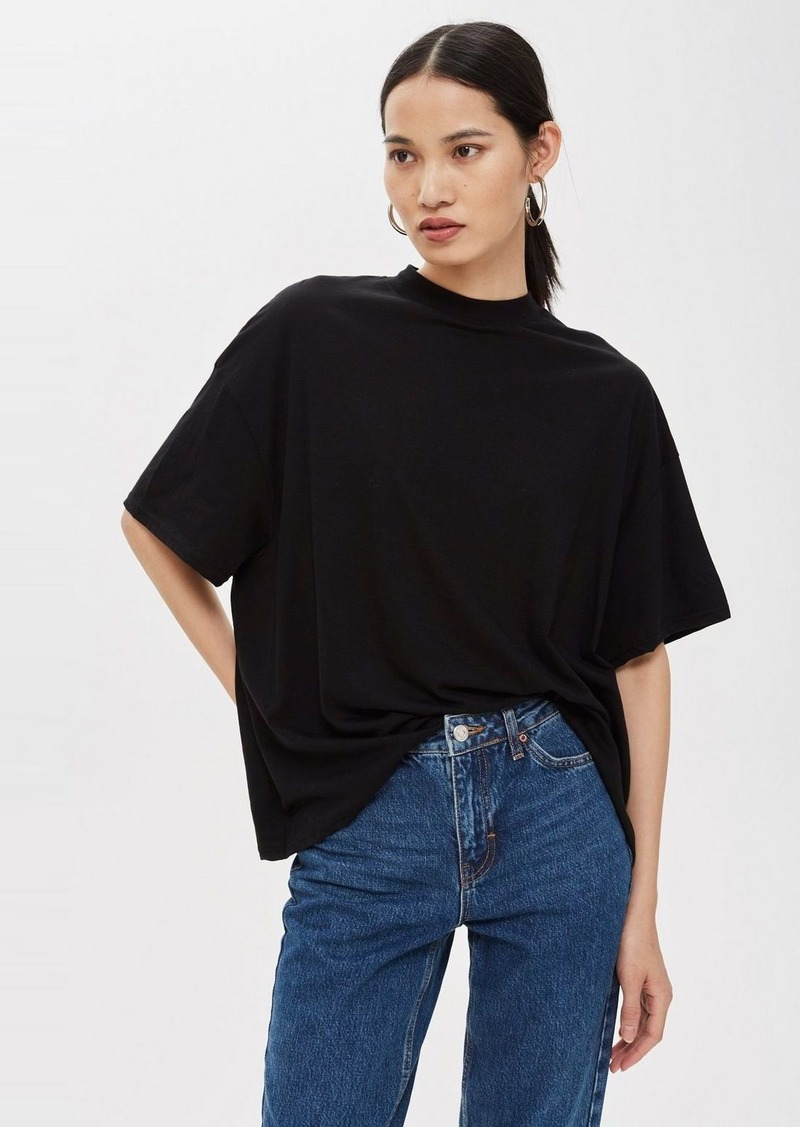 Topshop High Neck T Shirt
