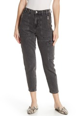 Topshop High Rise Cropped Worker Jeans