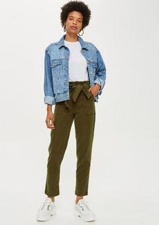 Topshop High Waist Utility Cargo Trousers