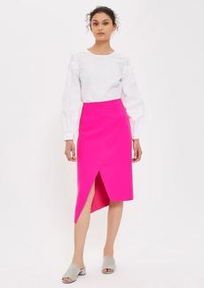 High Waisted Midi Wrap Skirt