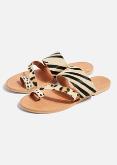 Topshop Honey Animal Flat Sandals