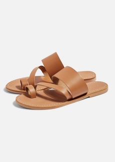 Topshop Honey Tan Flat Sandals