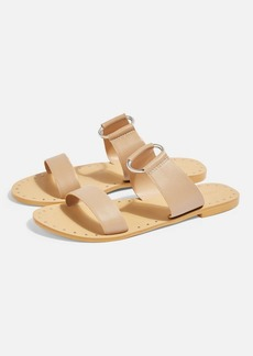 Topshop Hooray Leather Ring Mule Sandals